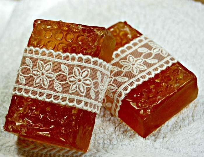 Upcycled honey and pears soap is a great way to try out soap making at home without having to invest in lots of supplies