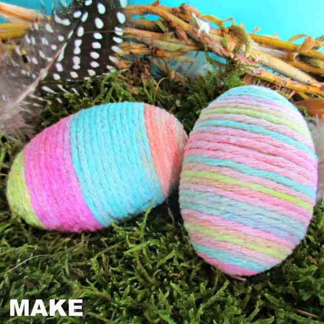 Pretty String Eggs