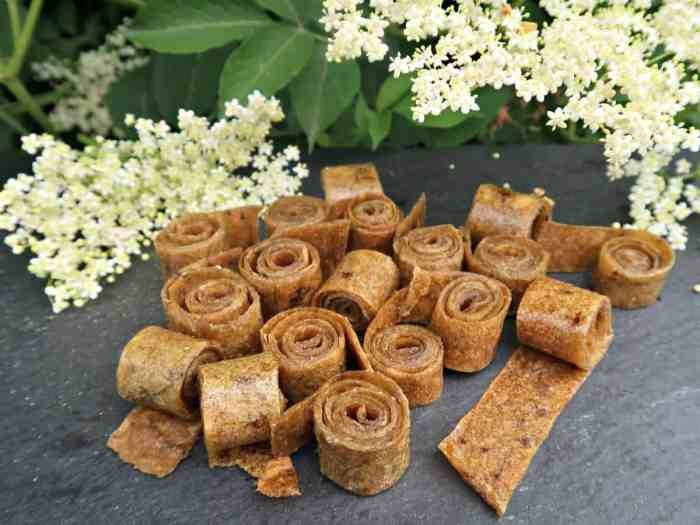 How to make Apple, Rhubarb and Elderflower Fruit Leather. It really is a simple, healthy snack to make, and vastly superior to the over-priced shop bought varieties.