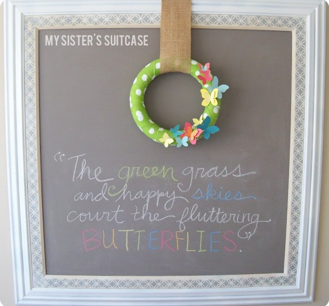 make paint chip wreath