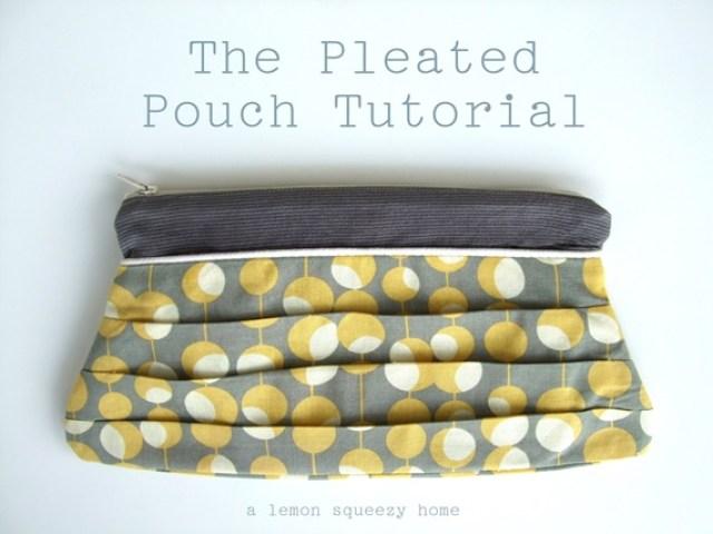 handmade pleated bag