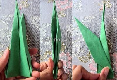 origami-paper-flower-stem