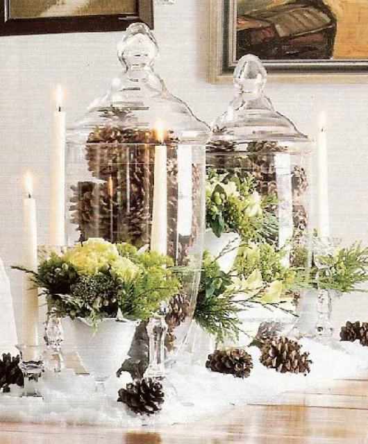 fall pinecone jars