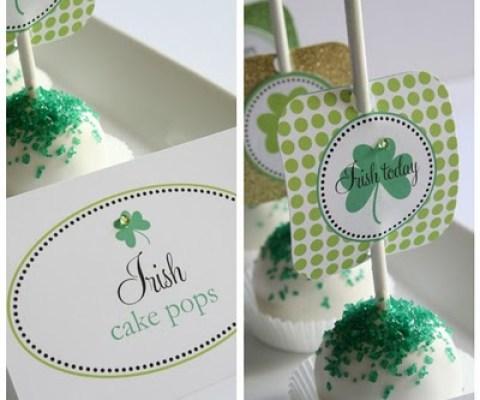 Irish cake pop printables