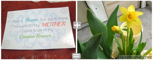 easy flower pot mothers day gift idea