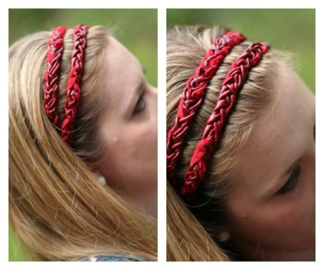 leather braided headband