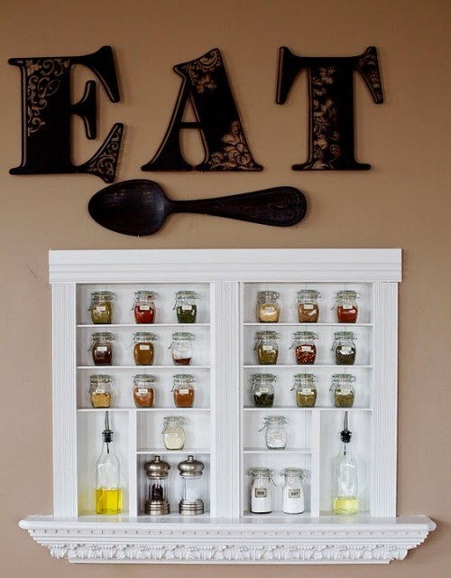 wall mounted spice rack nz