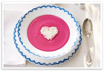 pink custard with heart delicious desserts