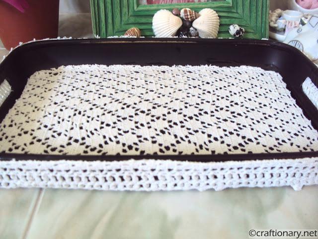DIY crochet tray