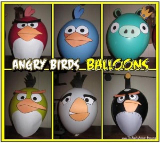 Make angry birds balloons