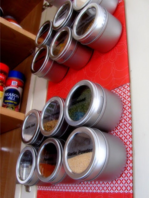 wall mounted spice rack wooden