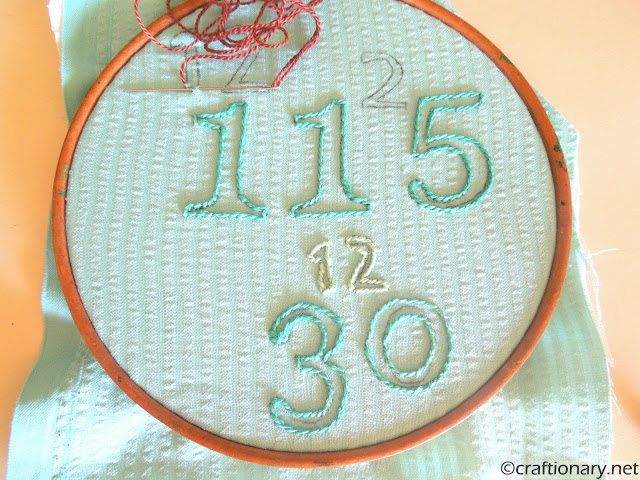 birthdays embroidery hoop