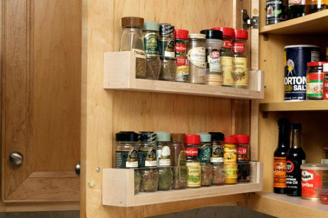 wall mounted test tube spice rack