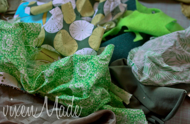 St Patrick's Day Wreath tutorial close up 2
