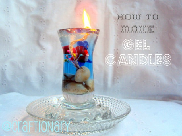 decorative gel candles home accent tutorial