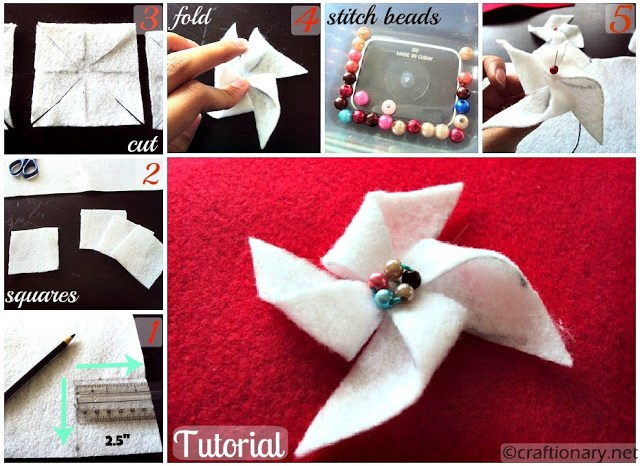 make felt pinwheels 3