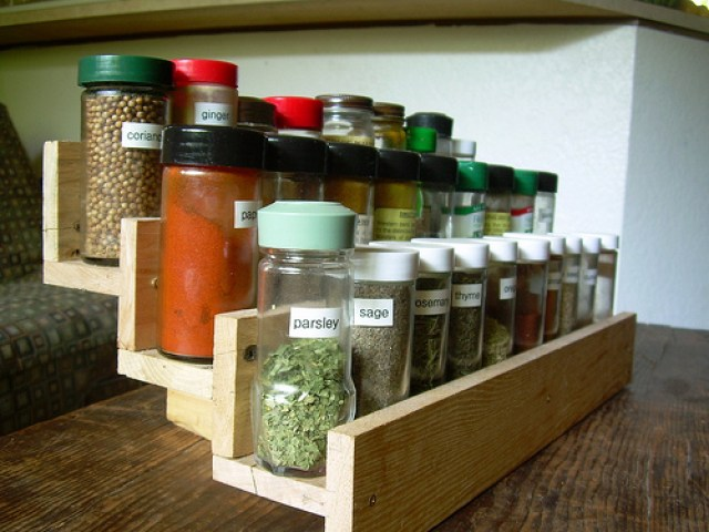 wall mounted spice rack target
