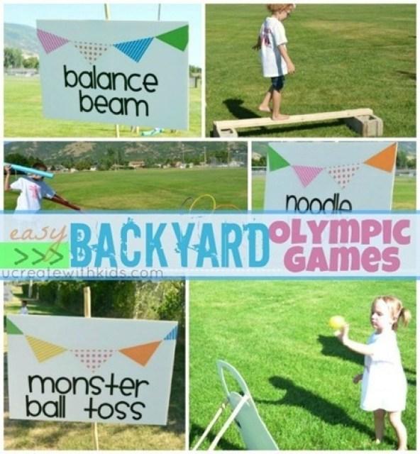 Olympics kids games backyard