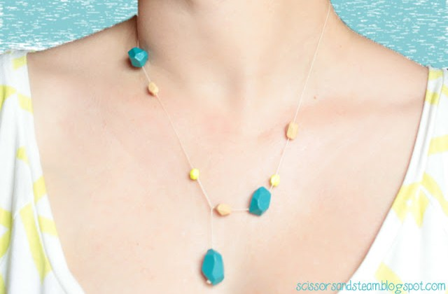 simple clay beads necklace