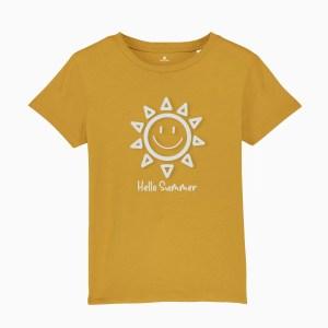 Tricou copii, galben, sun