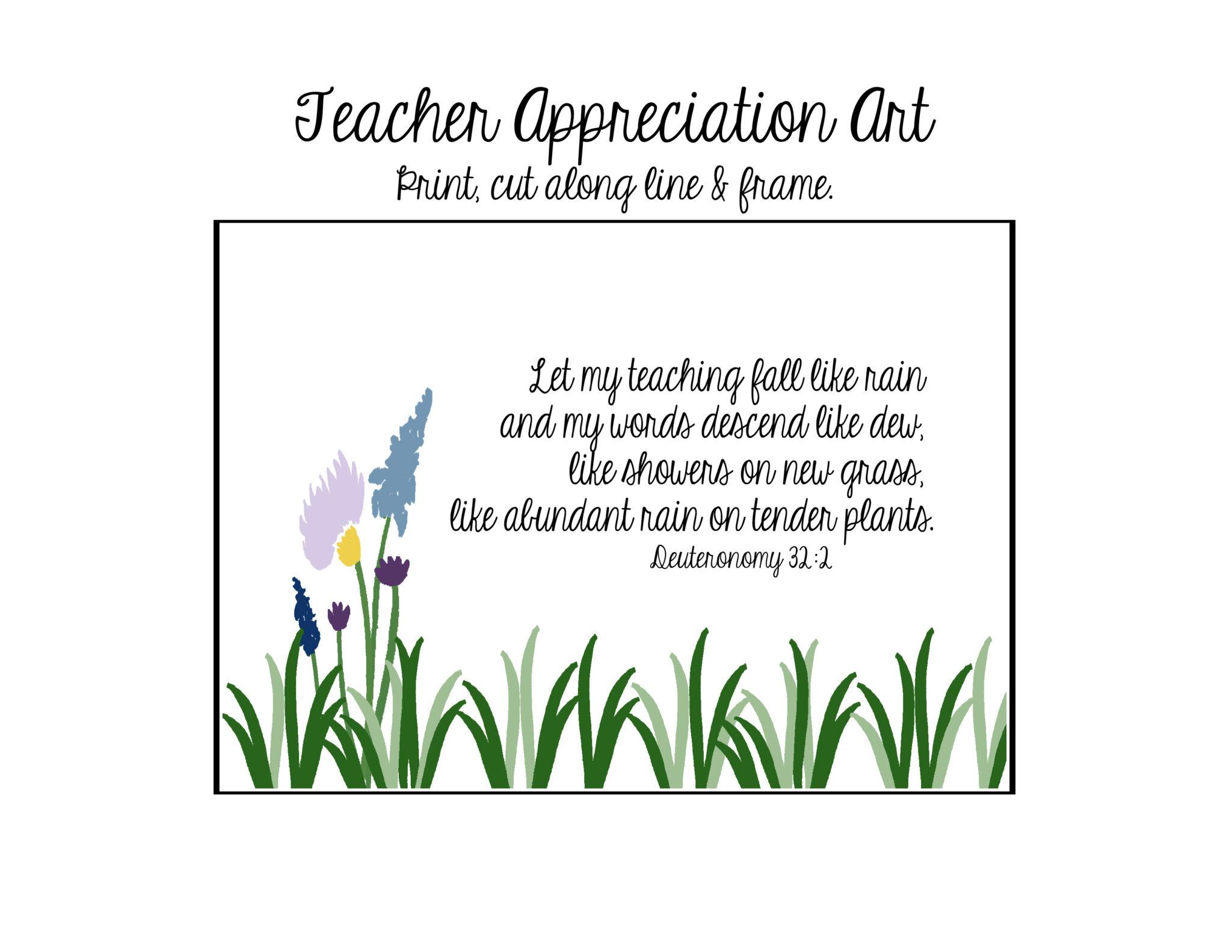 Teacher Appreciation T Amp T Card Holder Free
