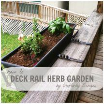 Deck Rail Herb Garden Craftivity Design