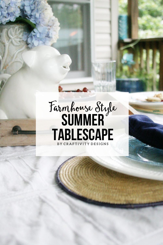 Farmhouse Style Summer Tablescape Craftivity Designs