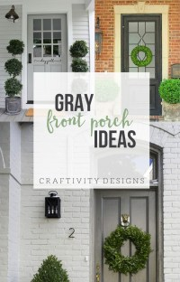 Exterior Colors | Gray Front Porch Ideas  Craftivity Designs