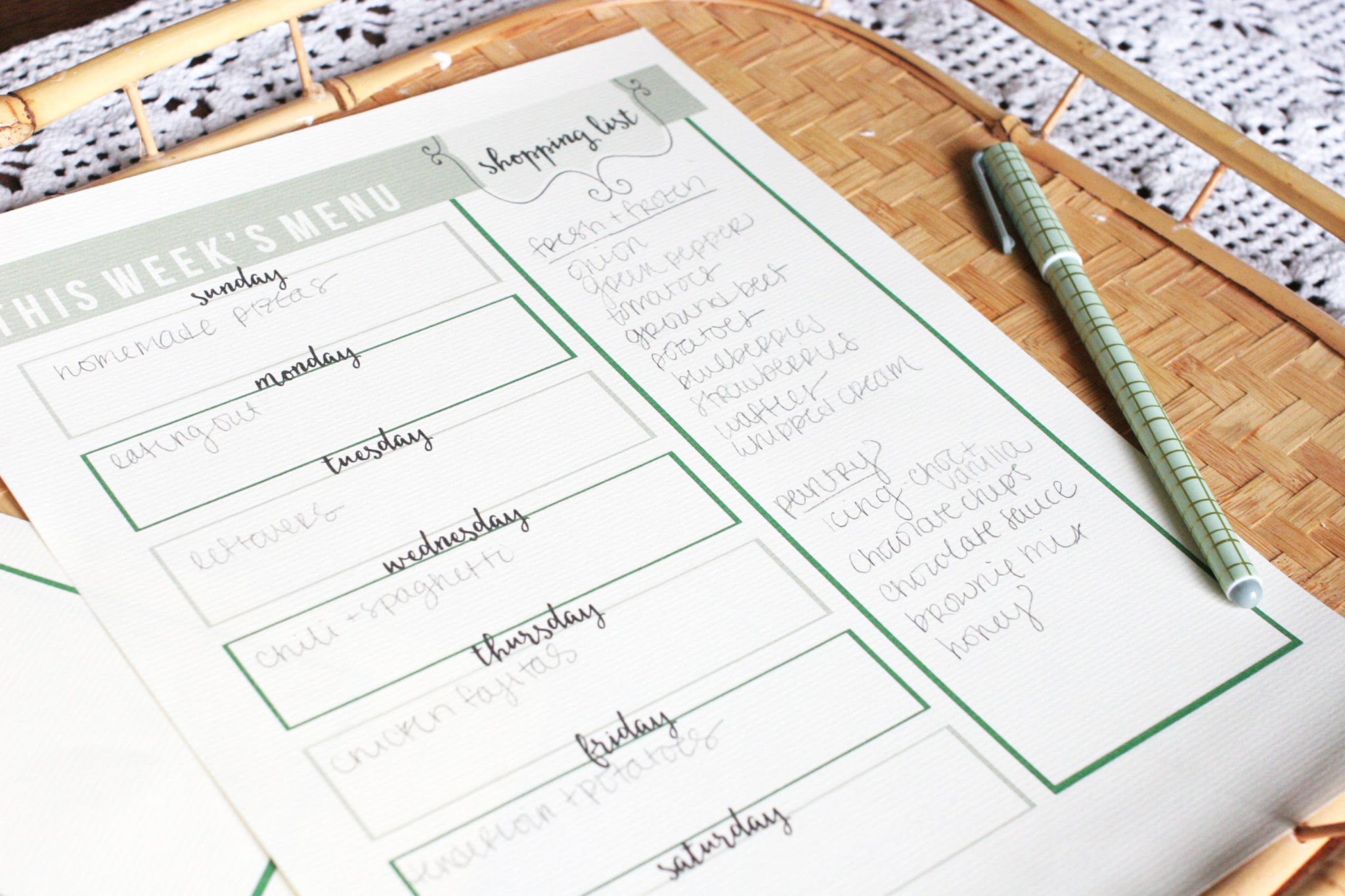 Download A Free Menu Planning Printable That Includes A Shopping List.  Grocery List And Meal