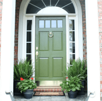 Exterior Colors | Green Front Door Ideas  Craftivity Designs