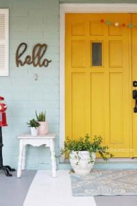 Exterior Color | Yellow Front Door Ideas  Craftivity Designs