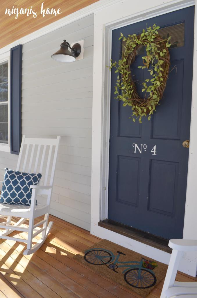Exterior Colors  Navy Front Door Ideas  Craftivity Designs