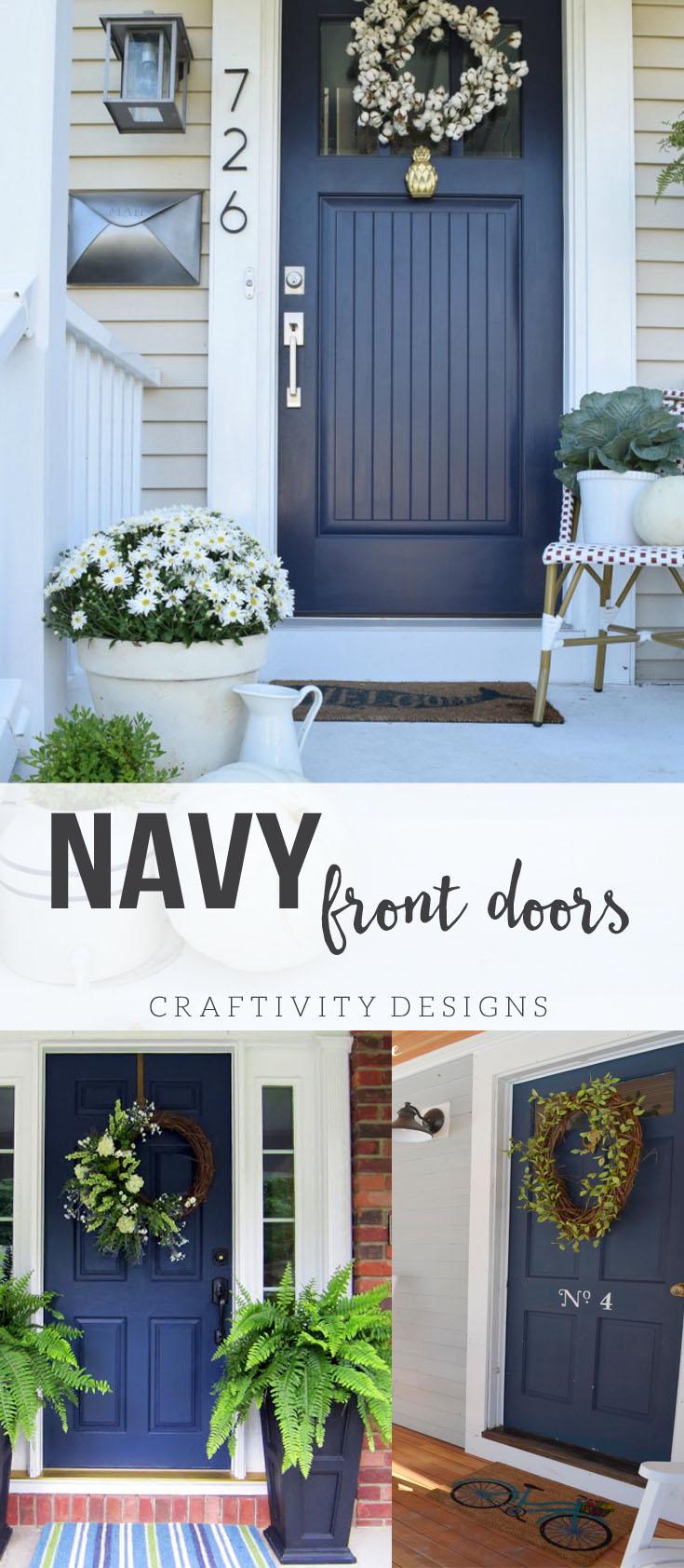 exterior colors navy front door ideas