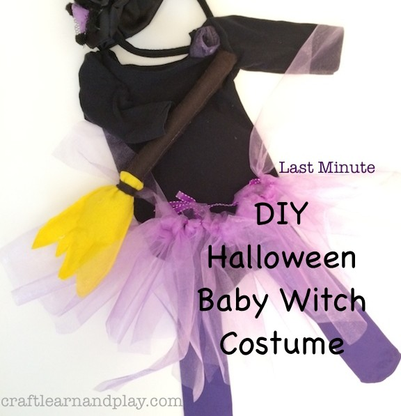 DIY Baby Halloween Witch Costume copy 2