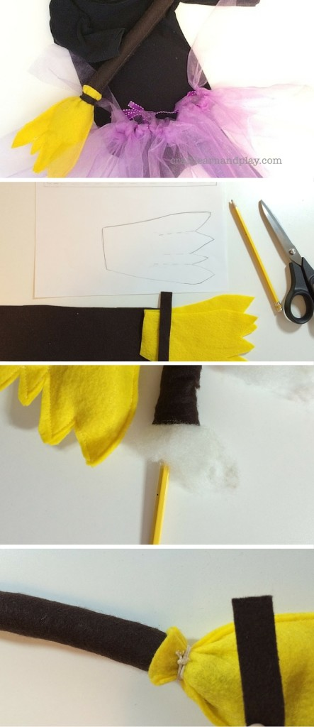 Felt Broom Tutorial with Free Template