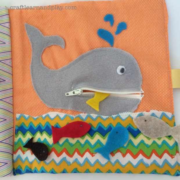 Quiet Book Whale Page