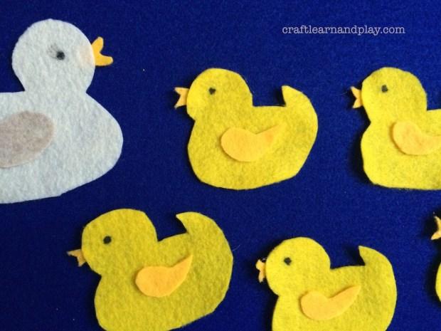 DIY Felt Board Story Five Little Ducks