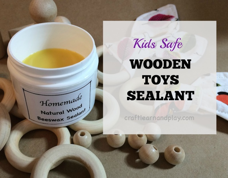 Homemade Beeswax Wooden Toys sealant Kids safe Toys