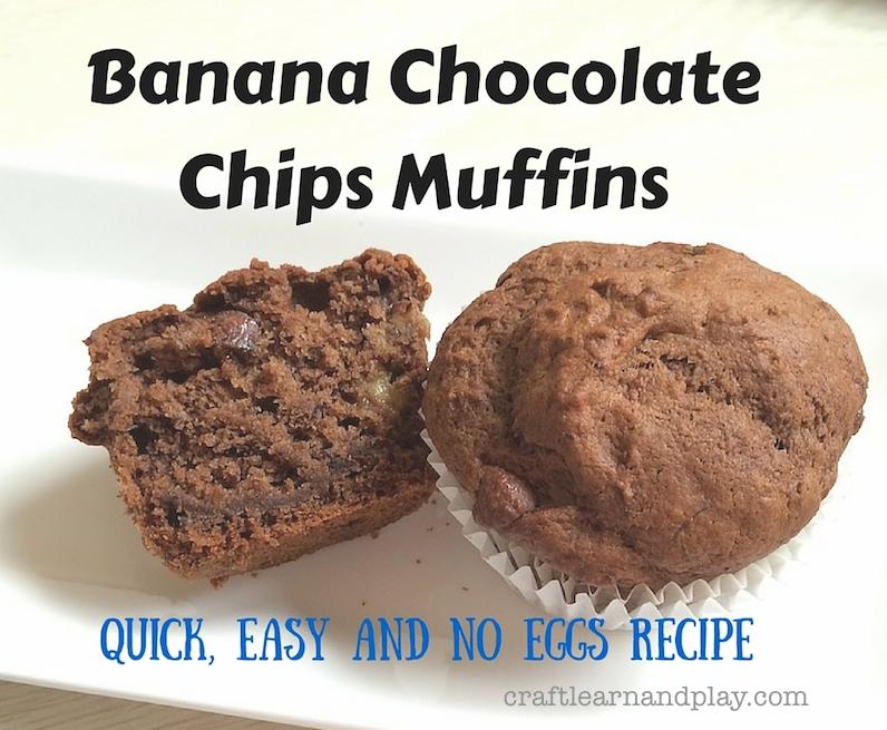 Banana Chocolate Chips Muffins Recipe