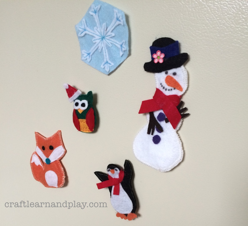 winter craft ideas for kids easy simple winter crafts for felt fridge magnets 7945
