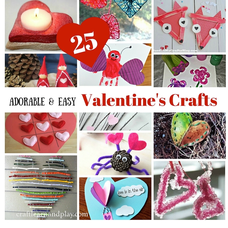 25Adorable and Easy Valentine's Crafts
