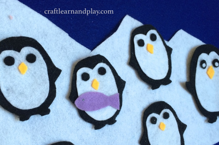 Five Baby Penguins Felt Board Story