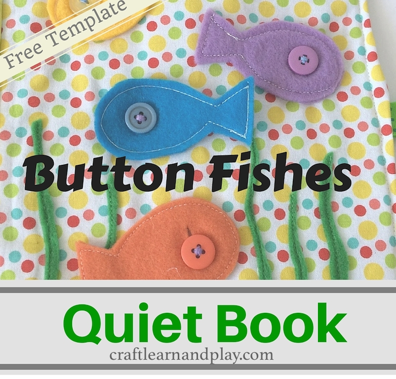 Quiet Book Cover Page Ideas : Quiet book ideas button fishes template