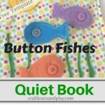 Quiet Book Ideas  – Button Fishes Quiet Book Template