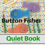 Quiet Book Ideas  – Button Fishes Quiet Book Template