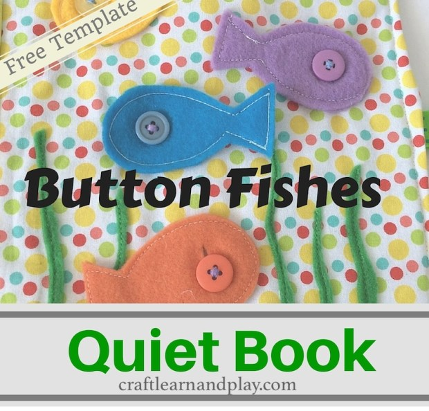 Quiet Book Ideas Button Fishes Page