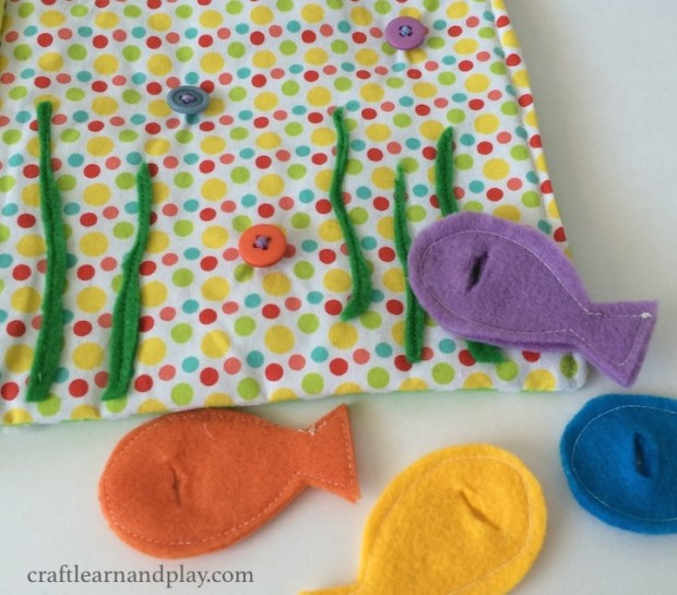 Felt fishes for Button Quiet Book page