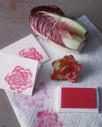radicchio stamping flowers