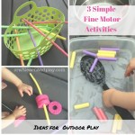 How To Make 3 Simple Fine Motor Activities for Outdoor Play