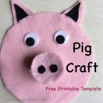 Easy To Make Felt Pig Craft With Free Printable